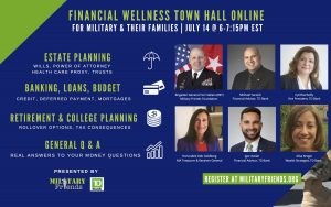 Financial Wellness Town Hall Informational Flyer Presented by TD Bank and Military Friends Foundation July 11 2021